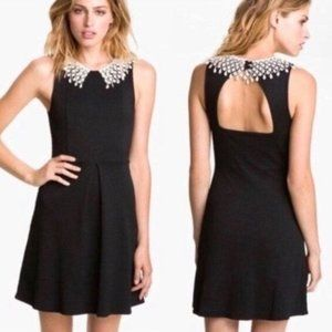 Free People Little Black Dress with Lace Collar
